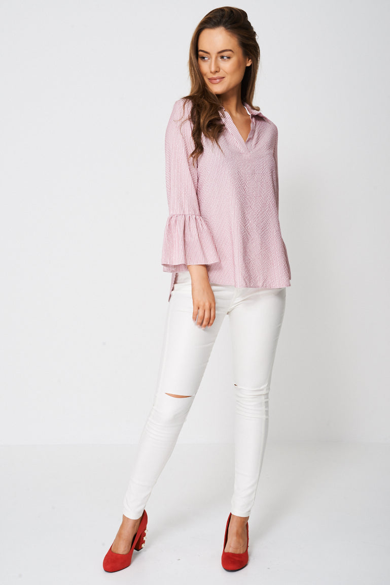 Blouse With Bell Sleeve Ex-Branded, Tops - First Impression UK