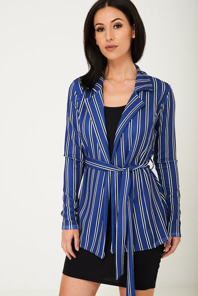 Blue Blazer in Stripes Ex Brand, Jackets & Coats - First Impression UK