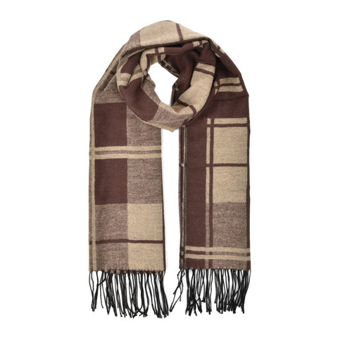 Winter Women Oversize Plaid Thick Scarf