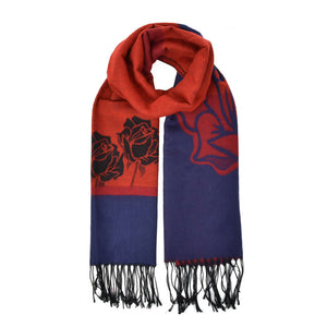 Fashion Women Oversize Flower Pattern Scarf (sf825) - First Impression UK