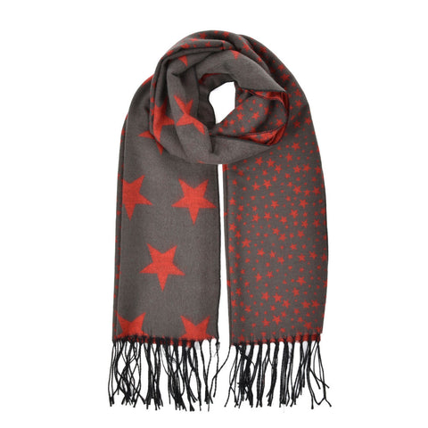 Winter Women Star Pattern Thick Scarf