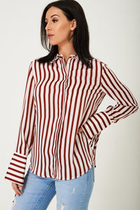 Ladies Elegant Shirt in Stripes Ex Brand