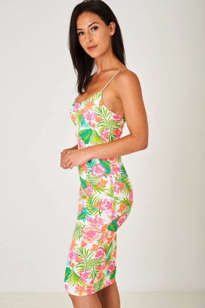 Bodycon Cami Dress in Floral Print, Dresses - First Impression UK