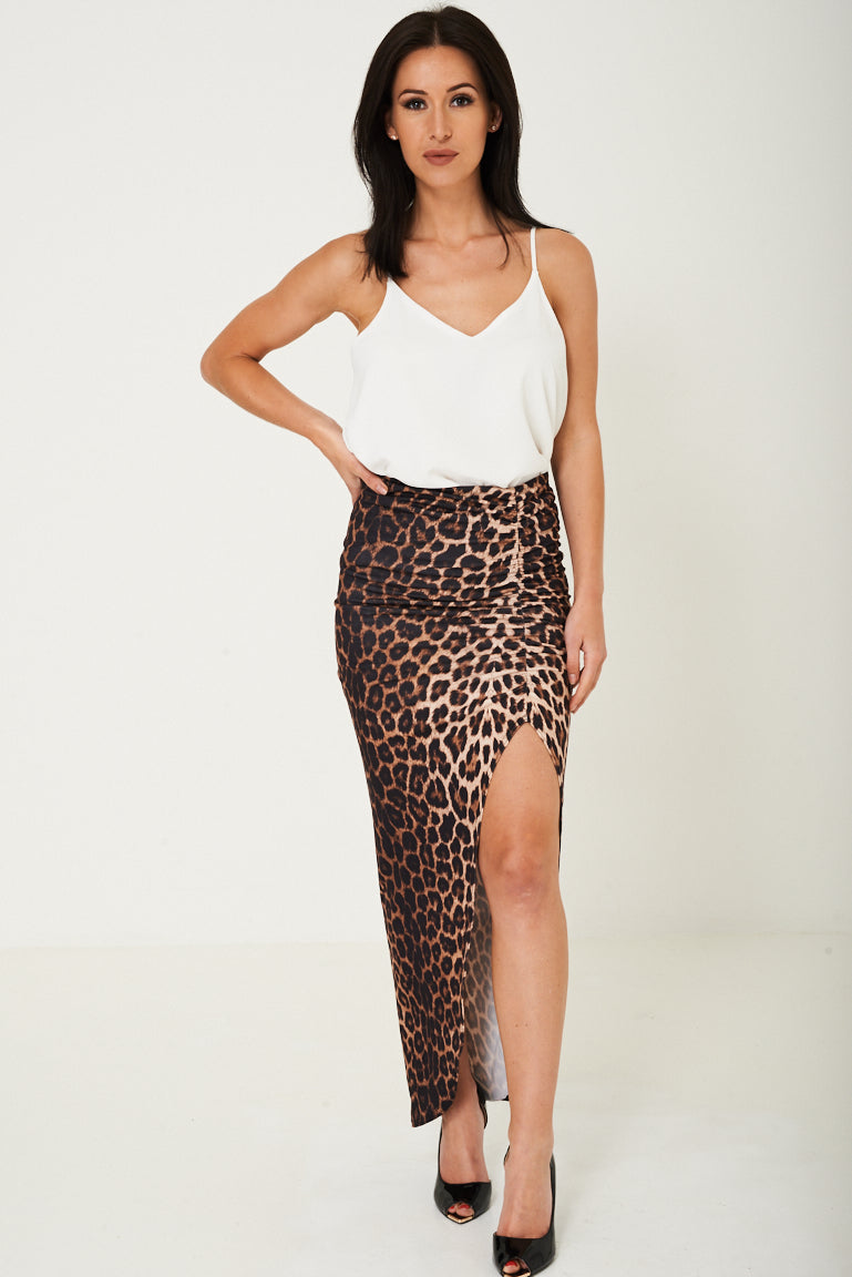 Animal Print Maxi Skirt, Skirts - First Impression UK