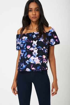 BIK BOK Off Shoulder Floral Top, Tops - First Impression UK