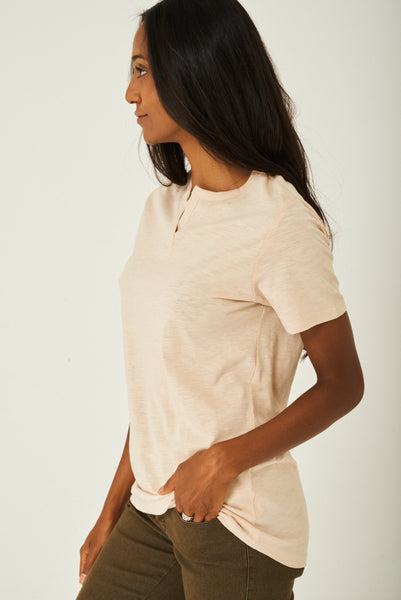 Basic Top in Beige, Tops - First Impression UK