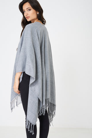 Plain Cape in Grey