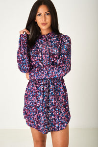 Ladies Multi Printed Shirt Dress