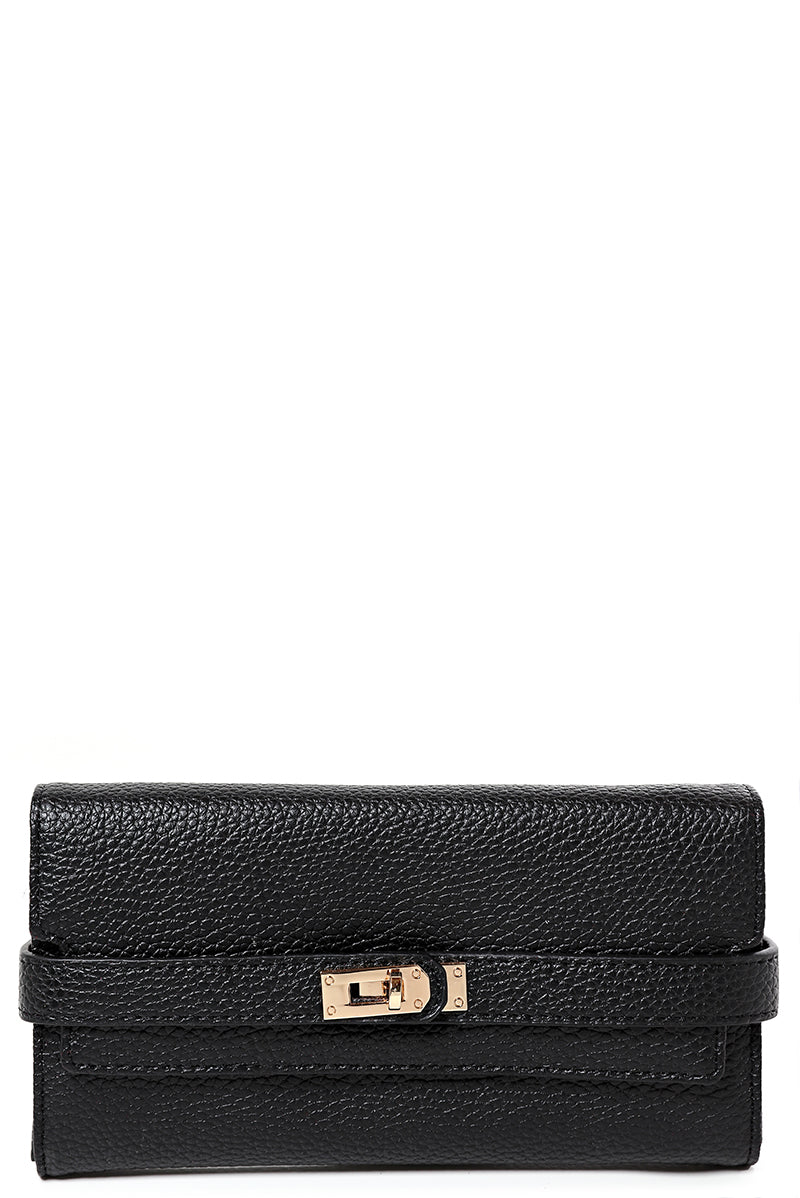 Buckle Detail Purse in Black, Purses - First Impression UK