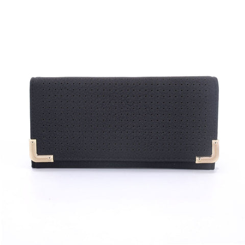 Black Hollow Metal Trim Lady Fashion Purse - First Impression UK