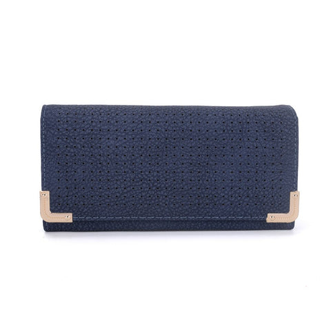 Blue Hollow Metal Trim Lady Fashion Purse - First Impression UK