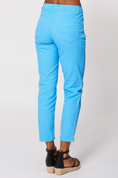 Blue Slim Leg Ankle Grazer Jeans - First Impression UK