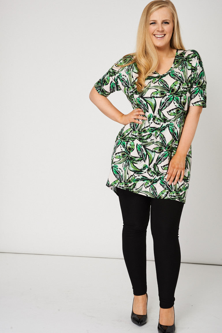 Cut Out Back Detail Tunic Top - First Impression UK