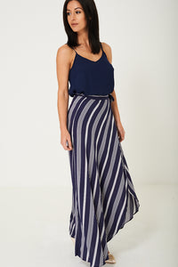 Ladies Maxi Skirt in Stripes Ex Brand