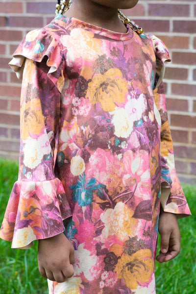 Joplin Florals, Suede Knit Fabric. Designer Collection