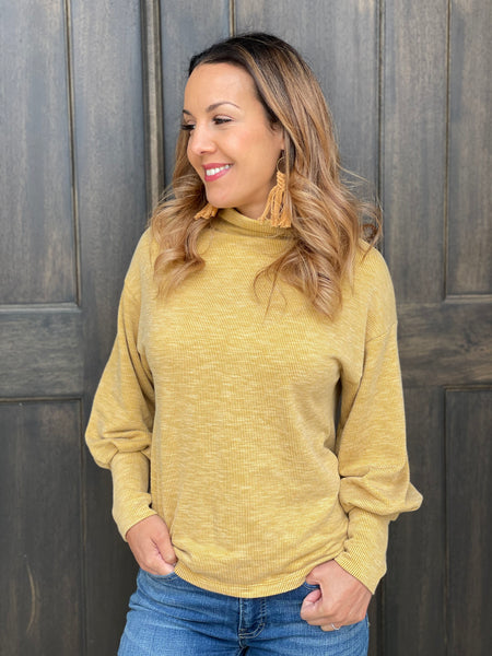 Canary Yellow, Brushed Rib Knit. BRIB-206