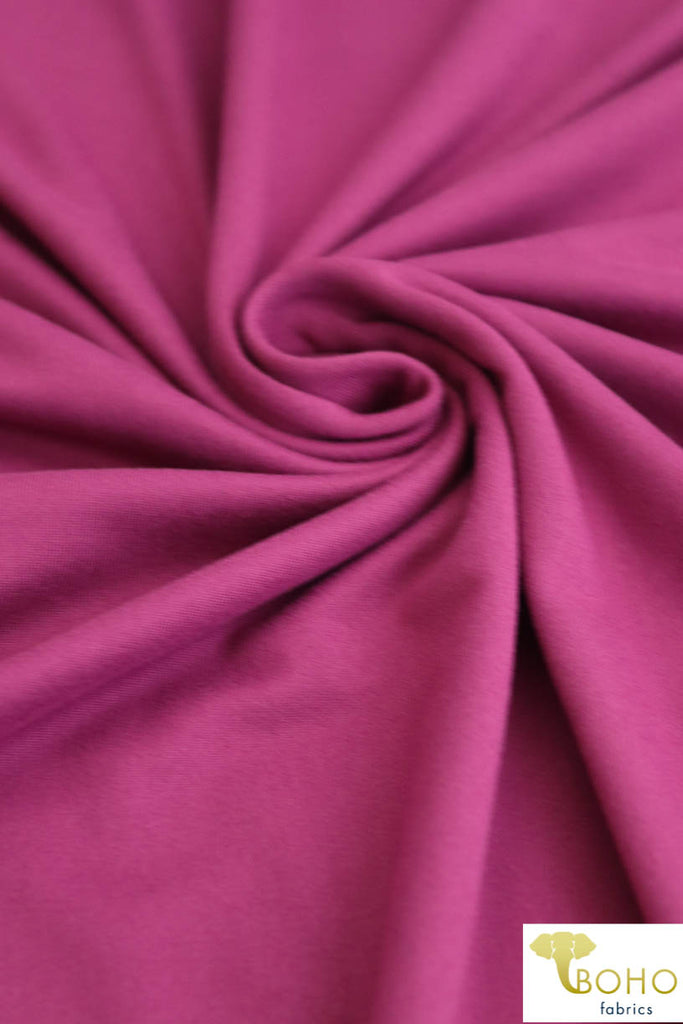 DBP: Raspberry. Double Brushed Poly Knit Fabric. BP-116