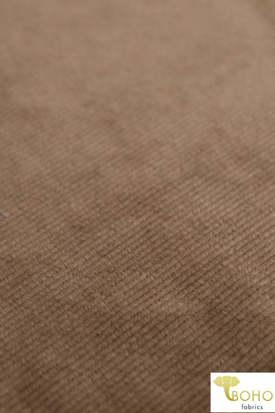Golden Brown. Narrow 12 Wale Corduroy Knit Fabric. CRD-102