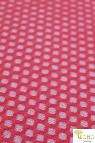 Novelty Mesh: Grid Diamonds in Coral