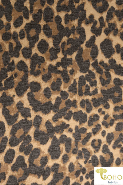 Wild Cheetah. French Terry Knit. FT-121.
