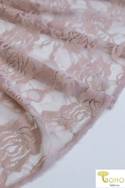 Rose Dream in Nude Pink. Stretch Lace Knit. SL-121-PNK
