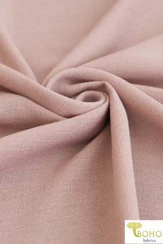 "Light Lilac Pink. ""Linen Look""/Slub Poly Woven. WV-133"