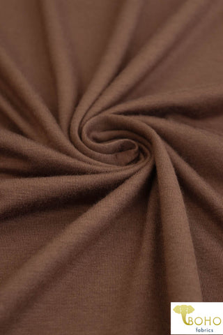 Milk Chocolate. Rayon Spandex Knit. R-122