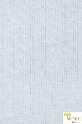 Slubbed Jacquard Terry: White. French Terry Knit. FT-139