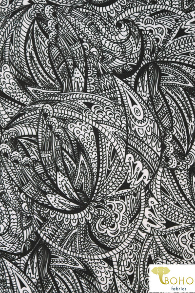 Paisley Betta Fish. Swim Print/Activewear. SW-074