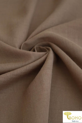 Caramel Brown. Cotton Lightweight Woven Fabric. WV-136-BRWN
