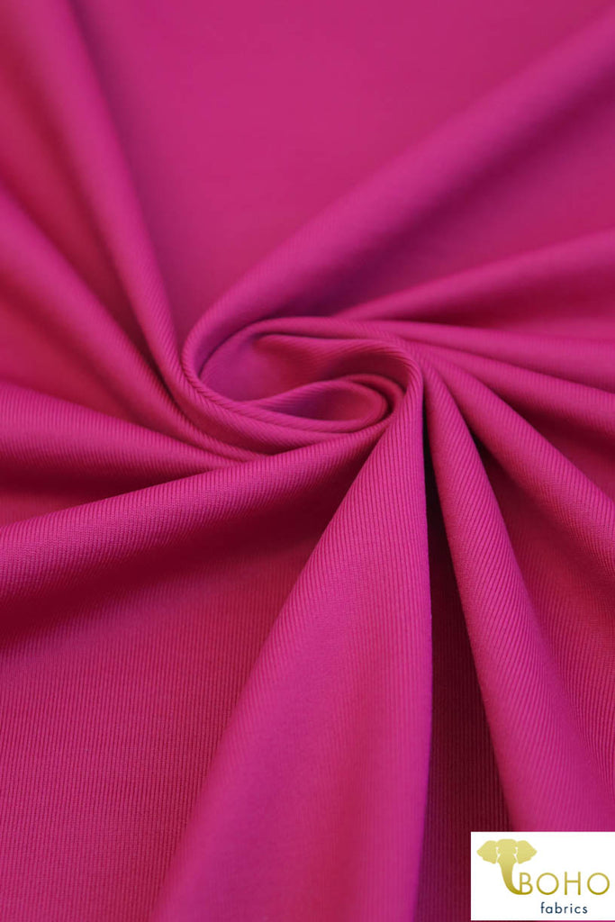 Athletic Nylon in FUCHSIA. Use for Activewear and Yoga! ATH-105