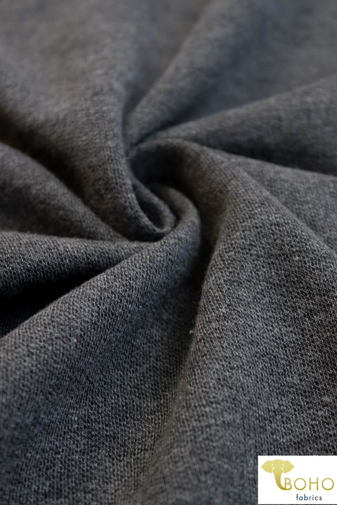 Charcoal Gray. Fleece Sweatshirt Knit. SWT-104.