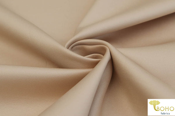 Nude. Shiny Coated Athletic/Scuba Knit Fabric. ATH-108-NDE