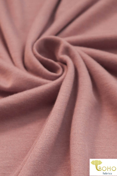 Dusty Pink. Solid Rayon Spandex Knit. R-113.