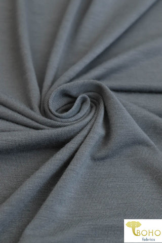 Cement Gray. Rayon Spandex Knit. R-127