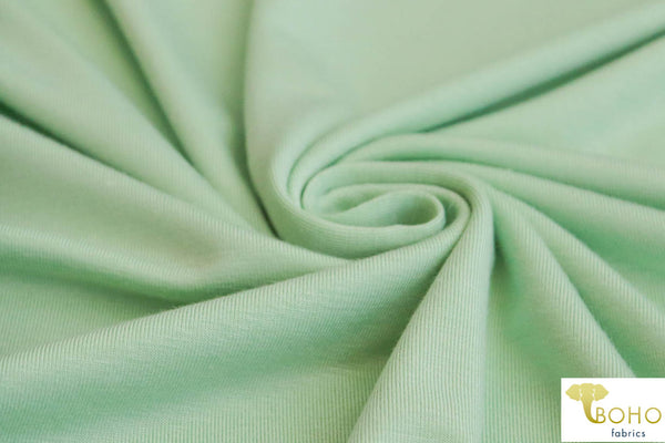Green Mint. Rayon Spandex Knit. R-129