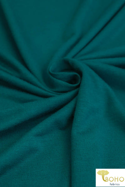 Jeweled Teal. Rayon Spandex Knit. R-126