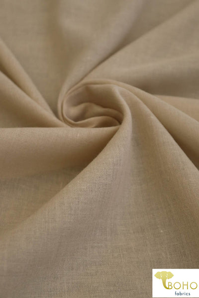 Lightweight Cotton Woven in DESERT SAND. WV-165