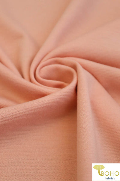 Peach. Ponte Di Roma Double Knit Fabric. PNT-107.