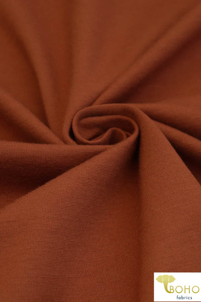 Copper. Ponte Di Roma Double Knit Fabric. PNT-106.