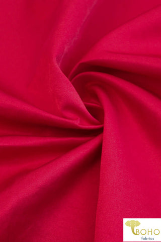 Satin Cherry Red (Shiny). Twill Woven Fabric. WV-160-RED