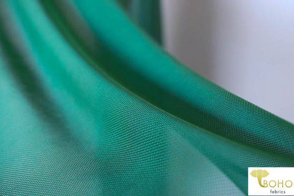 Stretch Mesh Solid in Emerald Green. SM-111.