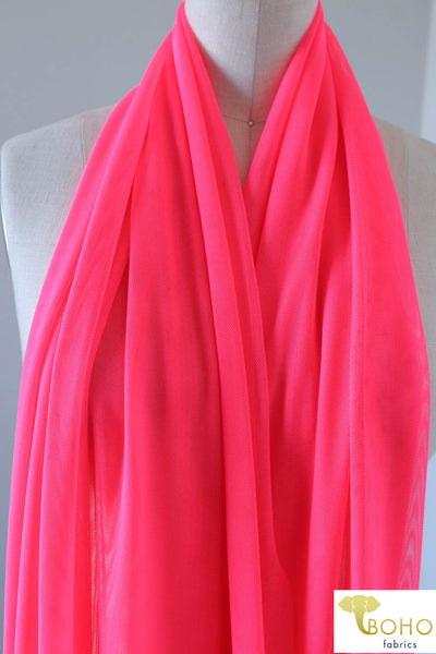 Stretch Mesh Solid in Neon Pink. SM-110.