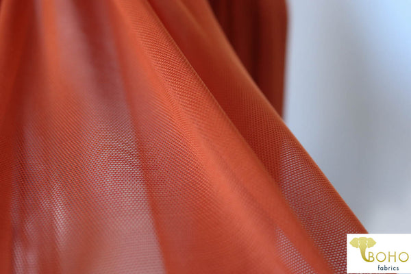 Stretch Mesh Solid in Rust. SM-119.