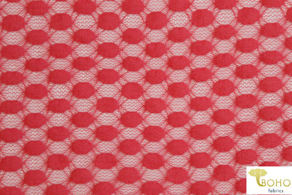Houndstooth Plaid Roses. Double Brushed Poly Knit Fabric.  DBP-005