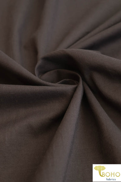 Dark Chocolate. Lightweight Cotton Woven. WV-170