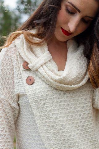 Ivory Open Weave Sweater Knit. SWTR-027