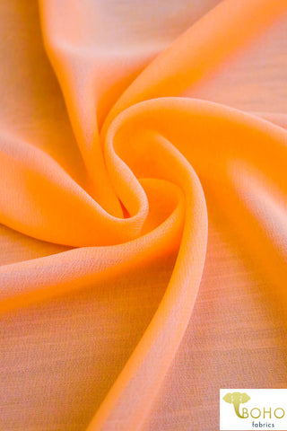 Neon Orange. Georgette Chiffon Poly Woven. WV-169-ORG