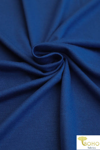 Soft Royal Blue. Solid Rayon Spandex Knit.