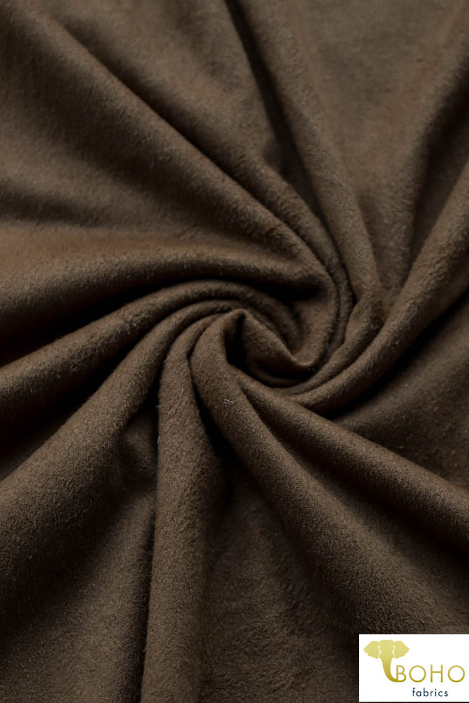 Brown Suede Knit Fabric. Designer Collection